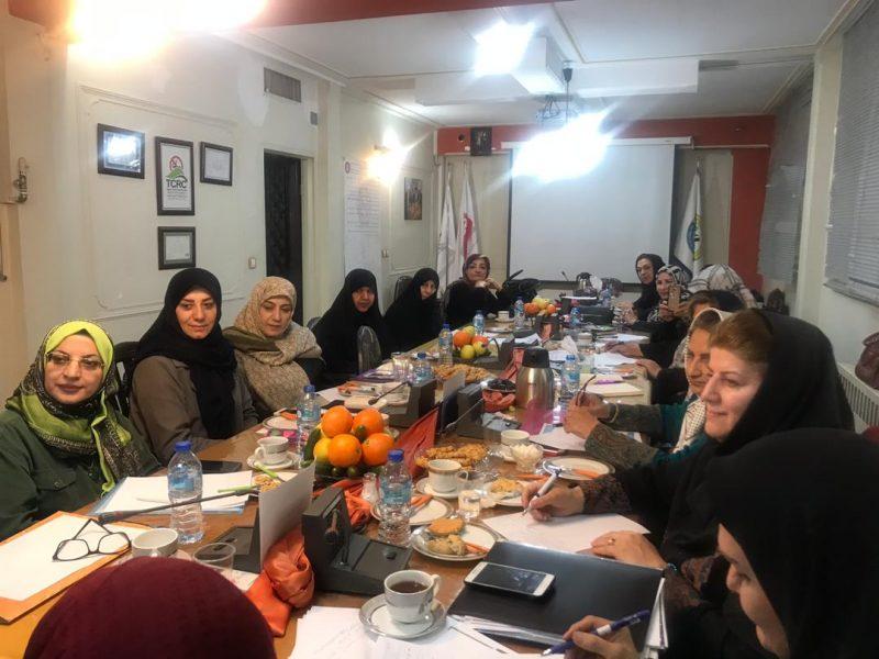 جلسه شبکه ملی سازمان های غیر دولتی زنان جمهوری اسلامی ایران